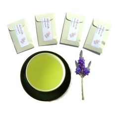 4 Green Tea Lavender Sachets Scented Asian by pebblecreekcandles, $12.00