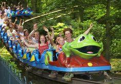 De beroemde Kikker achtbaan in Attractiepark Duinrell.