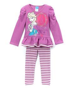 Purple Frozen 'Snow Queen' Tunic & Leggings - Toddler & Girls