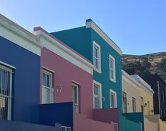 This is one of the most photographed areas of the Mother city because of the colourful houses. This is one of the most photographed areas of the Mother city because of the colourful houses. Boulder Beach, Cape Town, Bouldering, House Colors, South Africa, Travel Tips, Coast, Journey, Backpacker