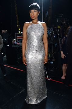 Jennifer Hudson upped the wow factor in a silver sequin gown | Best Dressed 2014 Tony Awards