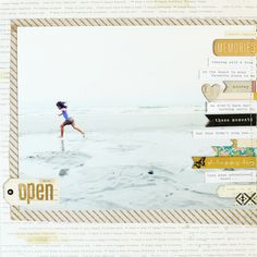 Great layout to include lots of photos and journaling. This is a good sketch for Cecilys baby book. Crate Paper, Studio Calico, Scrapbook Sketches, Scrapbook Page Layouts, Travel Scrapbook, Scrapbook Pages, Grandes Photos, Big Photo, Big Picture
