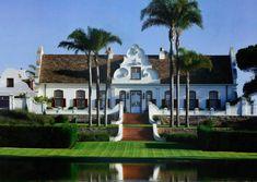 ranch in santa barbara,  I could swear its a Cape Dutch house! Stunning