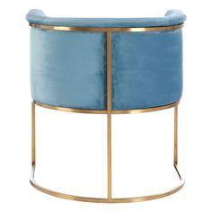 Maya Blue Velvet Chair