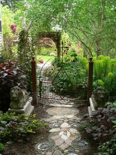 beautiful garden-Love this path, and gate!