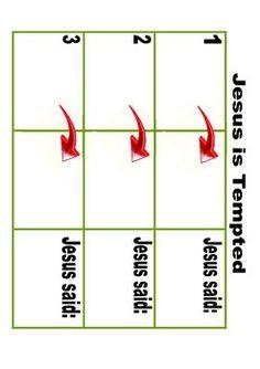 Jesus is Tempted Cut & Glue Worksheet Freebie