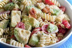 Creamy Bacon Tomato and Avocado Pasta Salad http://bit.ly/HTBbj3