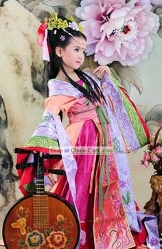 Ice Princess  *layers and headdress    (Ancient Chinese Imperial Princess Costumes for Children)