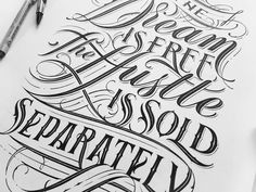 Mateusz Witczak is an extremely talented artist who focuses on typography and hand lettering. His hand lettering in particular is outstanding, the detail he Hand Lettering Alphabet, Hand Drawn Lettering, Types Of Lettering, Lettering Design, Lettering Styles, Calligraphy Tattoo Fonts, Letras Tattoo, Draw Logo, Chicano Lettering