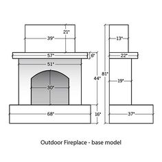 Image Gallery Outdoor Fireplaces Dimensions