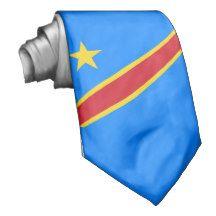 Flag of the Democratic Republic of the Congo Necktie