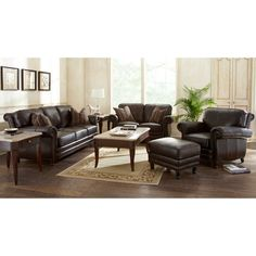 Venezia 4 piece leather set costco house decorating pinterest room set for Costco leather living room sets