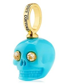 Love the color of this Juicy Couture Mini Skull Charm.