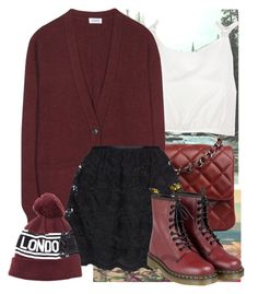 """""""#It's a shame you're a blame cause one you own by heart"""" by victoriaaili ❤ liked on Polyvore featuring Chanel, Rachel Comey, Closed, Yumi and Dr. Martens"""