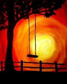 Paint with Ashlee Merchant tonight at a Paint Nite event in your town before tickets run out! Easy Canvas Art, Easy Canvas Painting, Simple Acrylic Paintings, Painting & Drawing, Canvas Ideas, Wine And Canvas, Oil Pastel Art, Silhouette Painting, Art Plastique