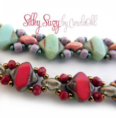 Free Silky Suzy Beaded Bracelet Pattern by Carole Ohl at Bead-Patterns.com