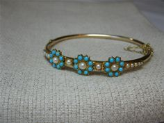 Persian Turquoise, Pearl & Gold Bracelet