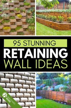 When sprucing up an outdoor area, we're used to the typical landscaping – cleaning up brush, potting plants, adding a bush or vegetable garden here and there. In larger landscaping projects, however, sometimes lawns can become multifaceted depending on the space. In most cases, adding or utilizing a retaining type of wall is necessary to hold soil and rain runoff back, but they can also add depth and deeper intrigue to an outdoor space. #ideas #hillside #landscape #steps #ideascheap