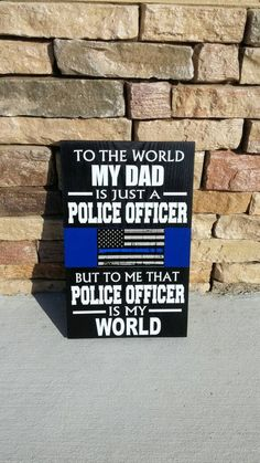 THIN BLUE LINE Personalized Police Wood Wall Plaques. Police Officer Quotes, Police Quotes, Police Officer Gifts, Police Wife, Blue Line Police, Thin Blue Line Flag, Thin Blue Lines, Police Retirement Party, Police Wedding
