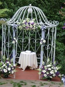 wrought-iron gazebo