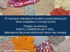 10 mocnych naturalnych środków przeciwbólowych, które znajdziesz w swojej kuchni i przepis na domowy, własny napój uśmierzający ból - alternatywa dla przeciwbólowych leków bez recepty. Ponad 11 pożytecznych przepisów domowych. Środki przeciwbólowe, takie jak ibuprofen i paracetamol stosowane są powszechnie aby ukoić nasze codzienne bóle. Wiele z tych leków bez recepty czyni szkody dla organizmu z powodu powszechnego nadużywania przy przewlekłym bólu. Są to leki uzależniające i mogą powodować…