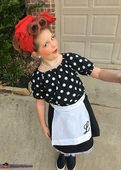 I Love Lucy Girl's Halloween Costume Idea