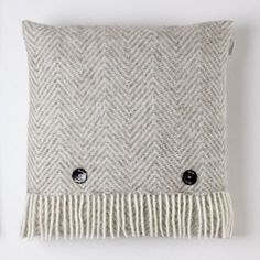 Cushion - Herringbone - Pure new wool - Natural