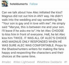 Shadowhunters Malec, Shadowhunters The Mortal Instruments, Sin Quotes, Magnus And Alec, Cassie Clare, Cassandra Clare Books, Cutest Couple Ever, Matthew Daddario, Alec Lightwood