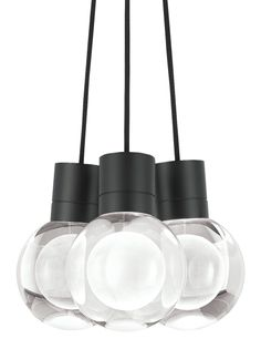 An elegant sphere of pure optic crystal is laser etched to create a mysterious yet beautiful orb floating within. When illuminated by the downward-firing LED hidden within the socket, the Mina  pendant light from Tech Lighting's inner orb glows brilliantly while the fixture provides a bounty of task light on surfaces below.