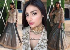 Athiya Shetty in Jayanti Reddy   At Mohit Marwahs sangeet event actress Athiya Shetty was seen in a blue banarasi lehenga and a beige peplum top by Jayanti Reddy. A statement choker necklace from Joolry by Karishma Mehra and straight hair completed her look!  Related Posts  Athiya Shetty in Anita Dongre  Athiya Shetty in Anita Dongre  Athiya Shetty in Love Birds Designs  The post Athiya Shetty in Jayanti Reddy appeared first on South India Fashion.  from South India Fashion…