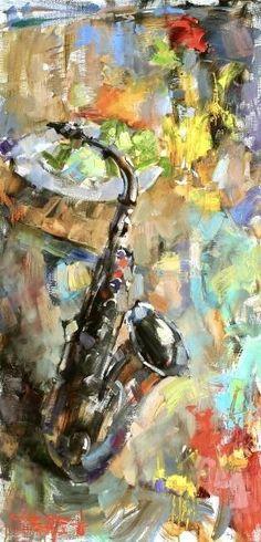Saxophone in a painting! Music Painting, Music Artwork, Musical Instruments Drawing, Jazz Art, Art Folder, Abstract Canvas Art, Art Plastique, Black Art, Oeuvre D'art