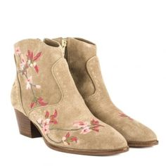 Ash Heidi embroidered suede boots
