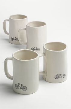 Cycle-centric Rae Dunn by Magenta Bike Mugs (Set of 4) available at #Nordstrom