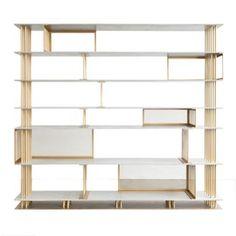 Cortland Bookshelf By Atelier Damis Contemporary, Industrial, Concrete, Metal…