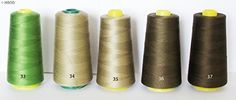 Assorted Colours 100 Polyester Threads Appx 3000m  Cold Colors No35 Military Green >>> More info could be found at the image url.