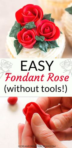 If you've got a ton of roses to make, or maybe you just don't want to spend hours making them, this easy fondant rose is the perfect solution.