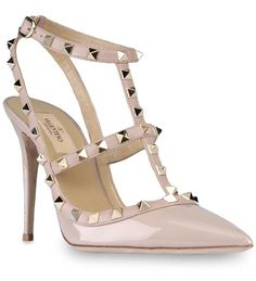WORLD GRAIN DAY Special Offers Good-feeling Rockstud 100mm Light Pink Patent Leather Slingback Pum Valentino Luxury