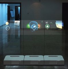 Transparent Glass Multitouch Kiosk from @idesigncafe