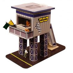"BK6429 1/64 Slot Car HO ""Marshalling Tower"" Photo Real Fits Aurora AFX race tracks"