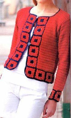 Fabulous Crochet a Little Black Crochet Dress Ideas. Georgeous Crochet a Little Black Crochet Dress Ideas. Cardigan Au Crochet, Gilet Crochet, Crochet Coat, Crochet Jacket, Crochet Cardigan, Crochet Clothes, Crochet Shawl, Beau Crochet, Pull Crochet