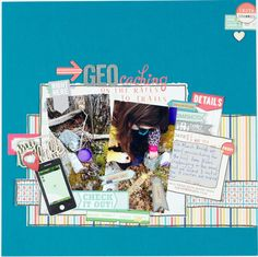 Scrapbooking Process Geocaching on the Rails to Trails