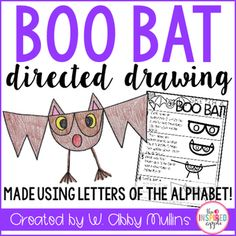 This is a FREE super-simple directed drawing that will teach your students to make a BOO BAT using only the letters: B O D V l and W! They start by writing the word BOO ;)Enjoy and share with your friends!
