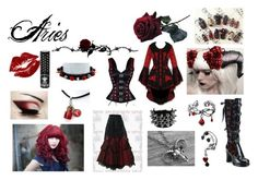 """""""Aries"""" by mangerlecole ❤ liked on Polyvore featuring Demonia and Manic Panic"""