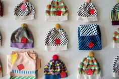 Colorful hats by Annie Larson