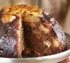 Sticky Ginger Pear Pudding a great last-minute alternative to a traditional Christmas pudding - plus it reheats in only five minutes Steamed Pudding Recipe, Pudding Recipes, Dessert Recipes, Pudding Ideas, Trifle Desserts, Homemade Desserts, English Pudding, British Pudding, Pear Recipes