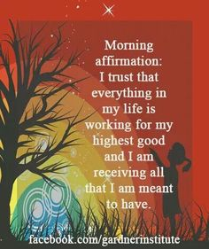 Morning affirmation..