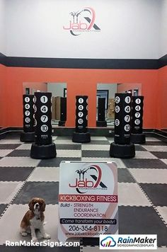 Custom Logo Wall Graphic for New Fitness Business - Bellevue WA Kickboxing Workout, Custom Logos, Wall Murals, Signage, Boards, Branding, Business, Interior, Fitness