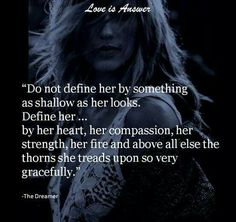 Do not define her by something as shallow as her looks