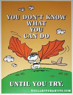 Snoopy with Wings inspiration positive words