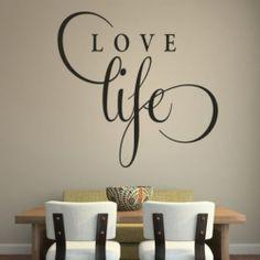 Love Life Inspirational Wall Sticker Love Quote Design Transfer Vinyl Decor Q49   eBay
